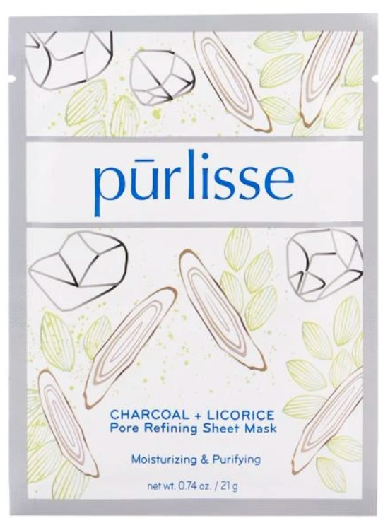 Purlisse Charcoal + Licorice Pore Refining Sheet Mask
