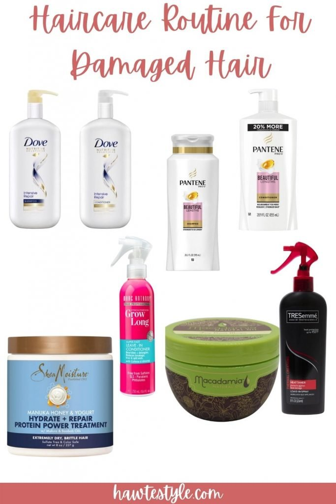 Haircare Routine For Damaged Color Treated Hair