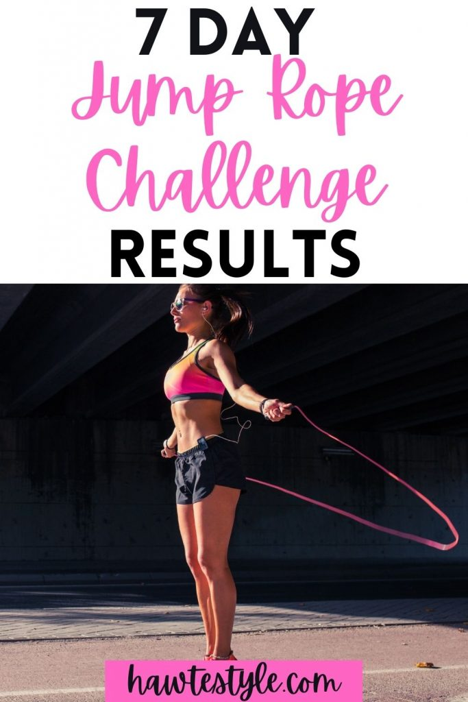 7 Day Jump Rope Challenge Results